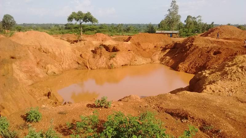 Open pit with rich gold ore