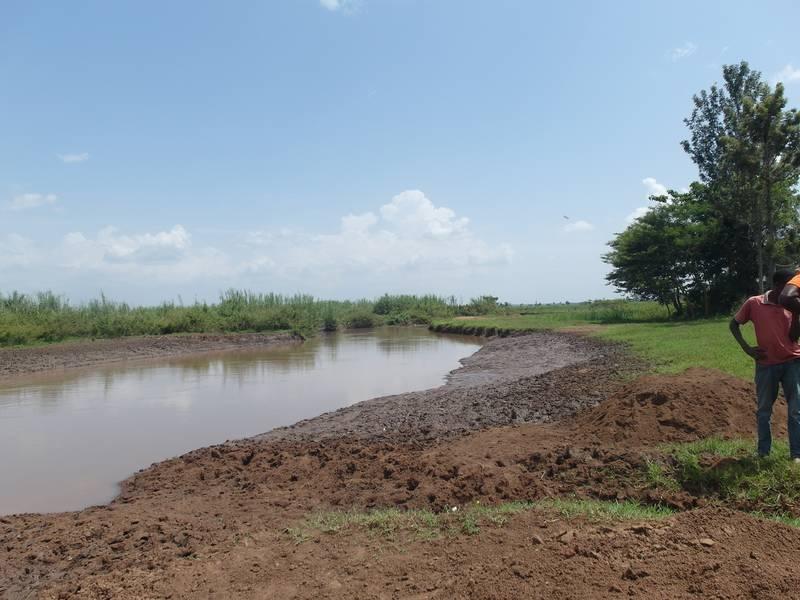Prospecting on river Okame in Uganda