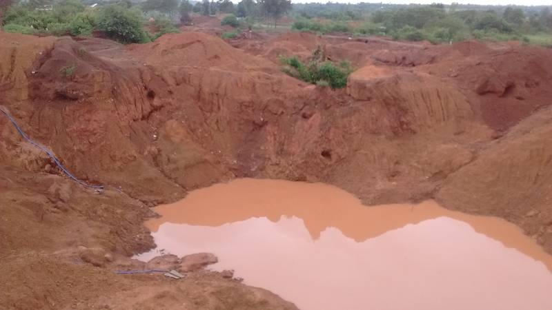 The open pit with very rich gold ore