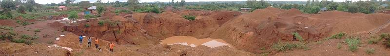 Panorama of the open pit