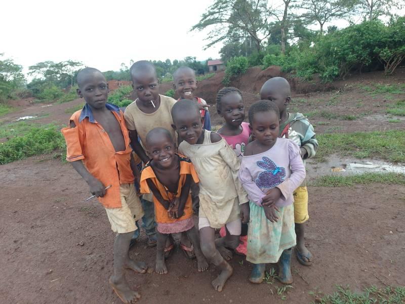 Children on the mining site