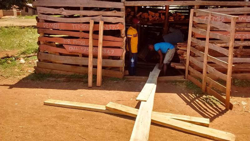 Wooden boards purchased for gold washing sluices