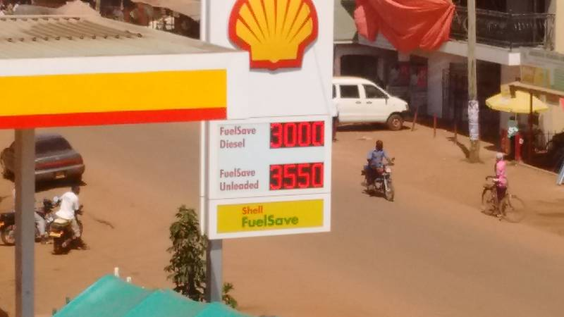 Diesel and benzin prices in Uganda on 3rd December 2017