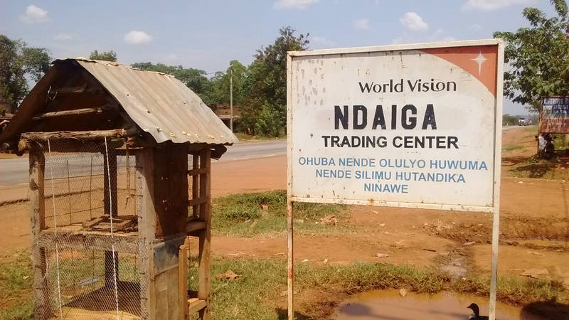 Ndaiga trading center in Uganda