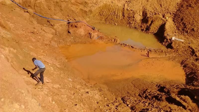 Open pit mining in Uganda