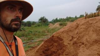 Mr. Louis nearby the tailings heap