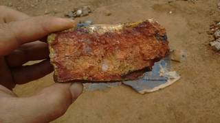 Mineral sample on the mining site
