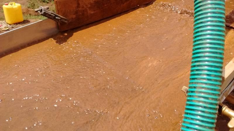 Laminar water flow