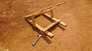 Repairing the wooden goat