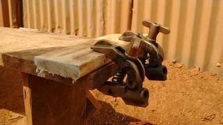 Old welding clamps used for carpentry