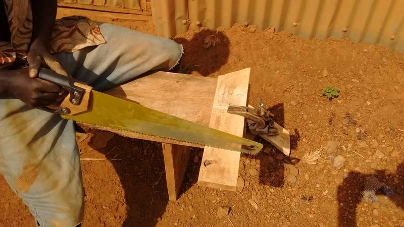 Preparing the elevation for sluices