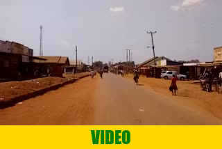 Driving through Busia city in Uganda