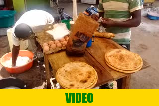 Chapati preparation on streets of Busia, Uganda