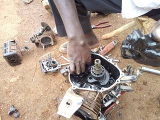 Reparation of the water pump