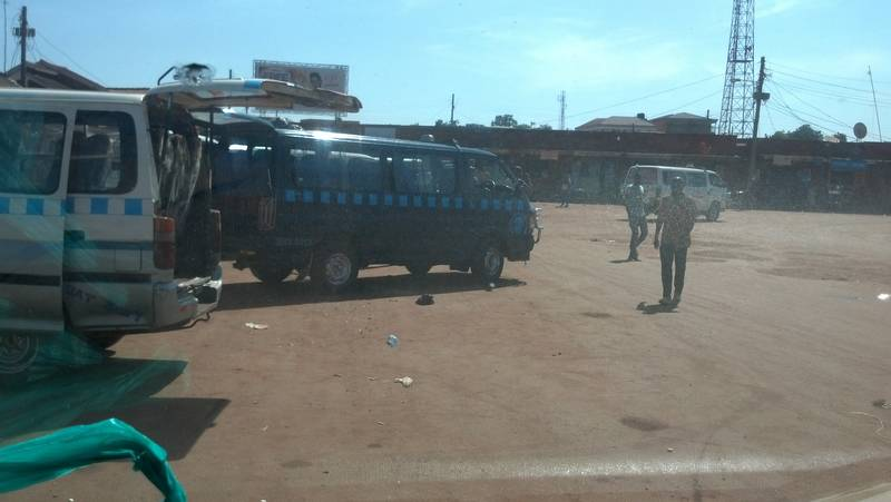 Bus station in Busia, Uganda