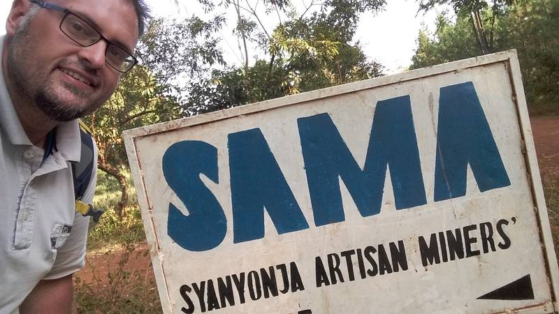 Dejan visiting SAMA, the Syanyonja artisanal miners organization