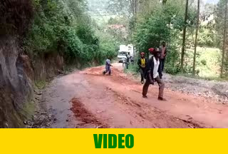 February 26th 2020, Muddy soil on the road is making difficulties for our truck