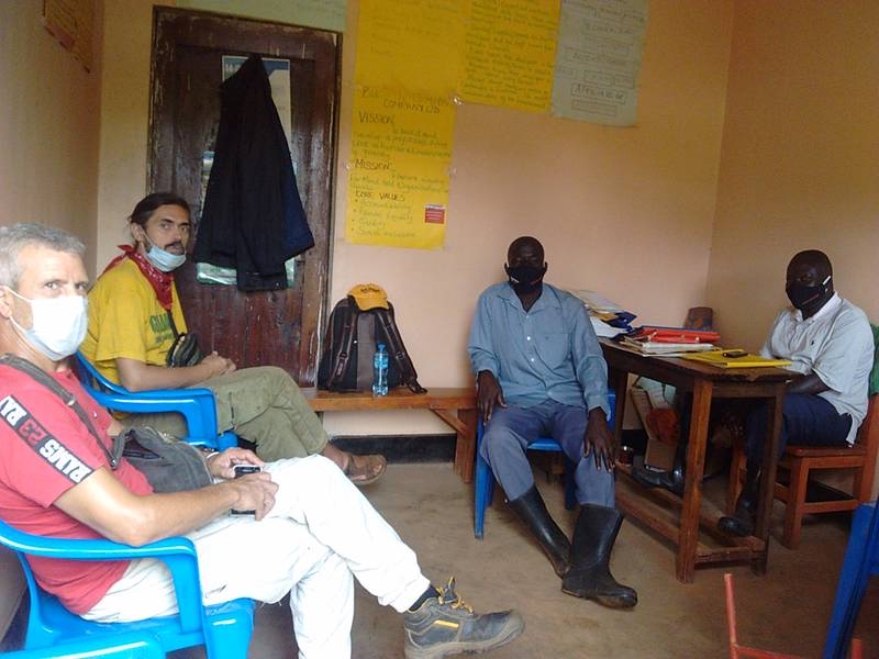 Meetings during Preliminary Site Assessment and Inspection in Busia, Uganda for gold mining startups