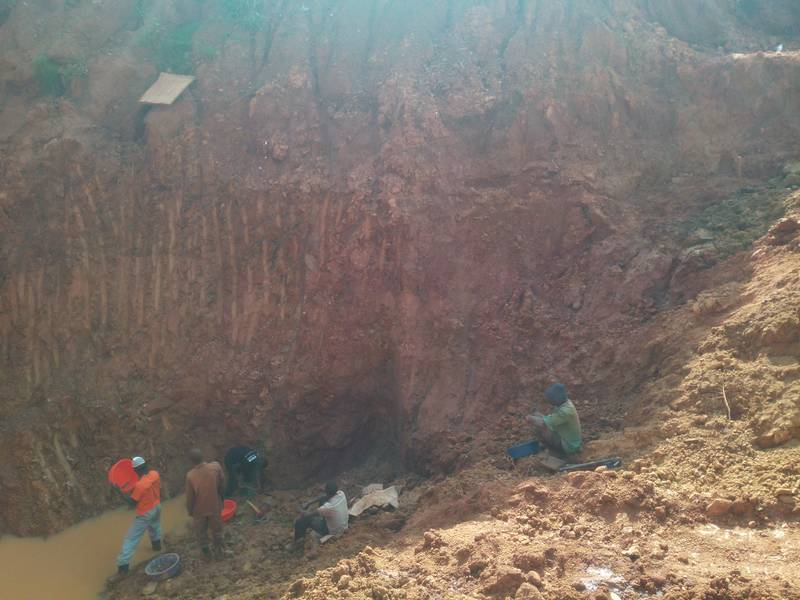 Too steep slopes of the open pit