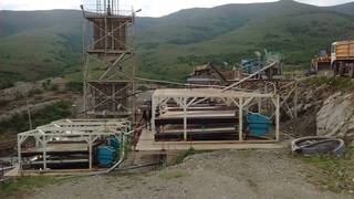 The chromite mineral processing plant