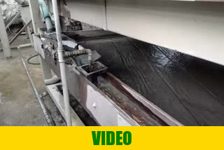 The video of shaker tables for chromite Cr2O3 mineral concentration