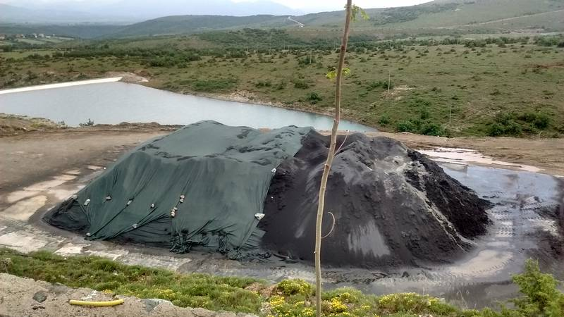 Stockpile of chromite concentrate